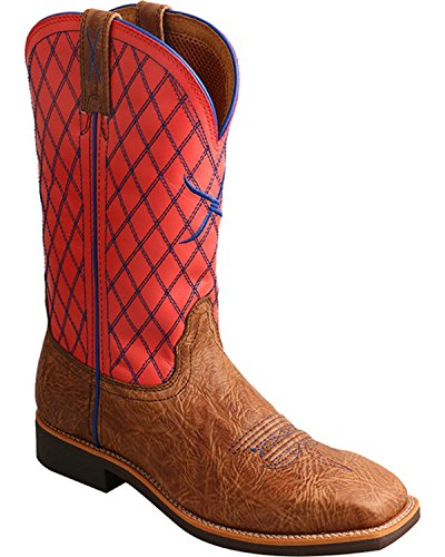 Twisted X Women's Top Hand Cowgirl Boot Square Toe Brown 9 M