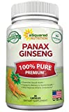 Pure Korean Panax Ginseng (1000mg Max Strength) - 90 Capsules Root Extract Complex (Red & White), High Potency Ginsenosides in Seeds, Asian Powder Supplement, Tablet Pills for Sex & Mental Health