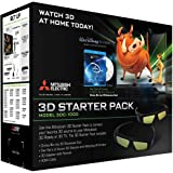mitsubishi 8000 - MITSUBISHI DLP TV 3DC-1000 or Samsung 3DA1 kit complete with 4 NEW Glasses(option for 2 in size for young kids), emitter, remote, NEW HDMI cable, NEW 3D bluray, manuals (refurbished as no longer made but perfect clean and complete)