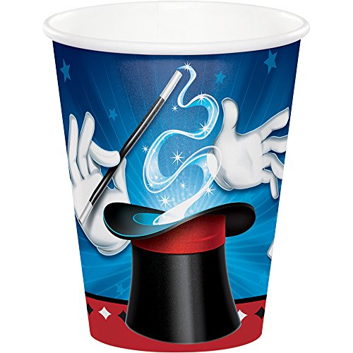 Creative Converting 322202 96 Count 9 oz Hot/Cold Paper Cups, Magic Party ()