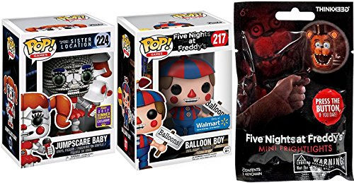 Five Nights at Freddy's Blind Bag Frighlight + Exclusive Vinyl Pop! Balloon Boy #217 & SDCC Convention #224 Jumpscare Baby Sister Location