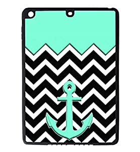iPad Air pc Silicone Case - Tiffany Blue with a Zebra Pattern Heart