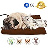 Pet Heating Pad - NuoYo Electric Heating Pad for Dogs and Cats Warming Mat With 7 Adjustable Temperature Chew Resistant Steel Cord Waterproof Soft Reomover Cover 16