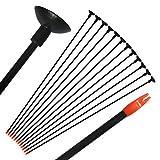 "12Pcs 29"" Children Practice Fiberglass Arrows With Sucker Archery Hunting Safe Arrow"