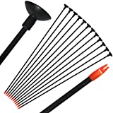"e5e10 29"" Fiberglass Children Archery Arrows, Practice Game Arrows with Sucker for Compound & Recurve Bow for Kid, Woman or Beginner, 12Pcs"