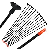 e5e10 26.7'' Fiberglass Children Archery Arrows, Practice Game Arrows with Sucker for Compound & Recurve Bow for Kid, Woman or Beginner, 12Pcs