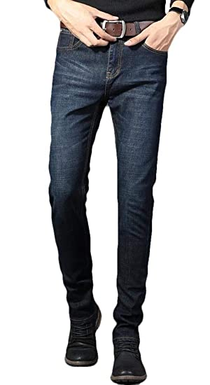 ab48bad0d9784c BYWX Men Straight Leg Business Casual Big & Tall Denim Jeans Pants at Amazon  Men's Clothing store: