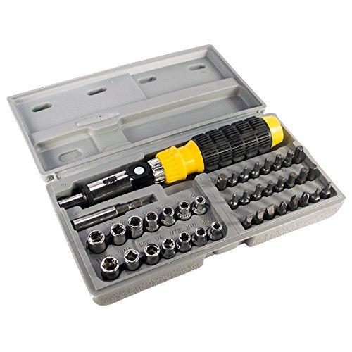 TukTek Tools 90 Degree 41 Piece Adjustable Ratchet Driver Sc