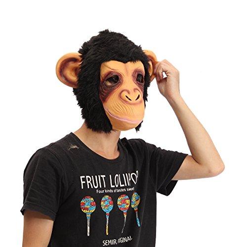 [SICA Gorilla Head Mask Creepy Animal Halloween Costume Theater Prop Latex Party Toy] (Creepy Mlp Costume)