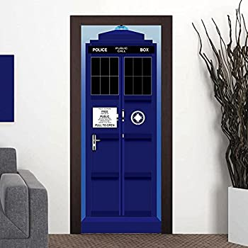 Nalichy London Police Box Door Wall Stickers Murals Decal Funny Self-adhesive Waterproof Wallpaper Home Decor & Amazon.com: Wall Door STICKER Who Police box movie sticker mural ...