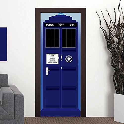 tardis door sticker - 4