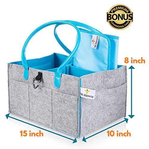 Open-Minded Portable Felt Tote Storage Bin Baby Diaper Organizer Thick Felt Fabric Diaper Caddy Organizer Removable Divider Diaper Bag Mother & Kids