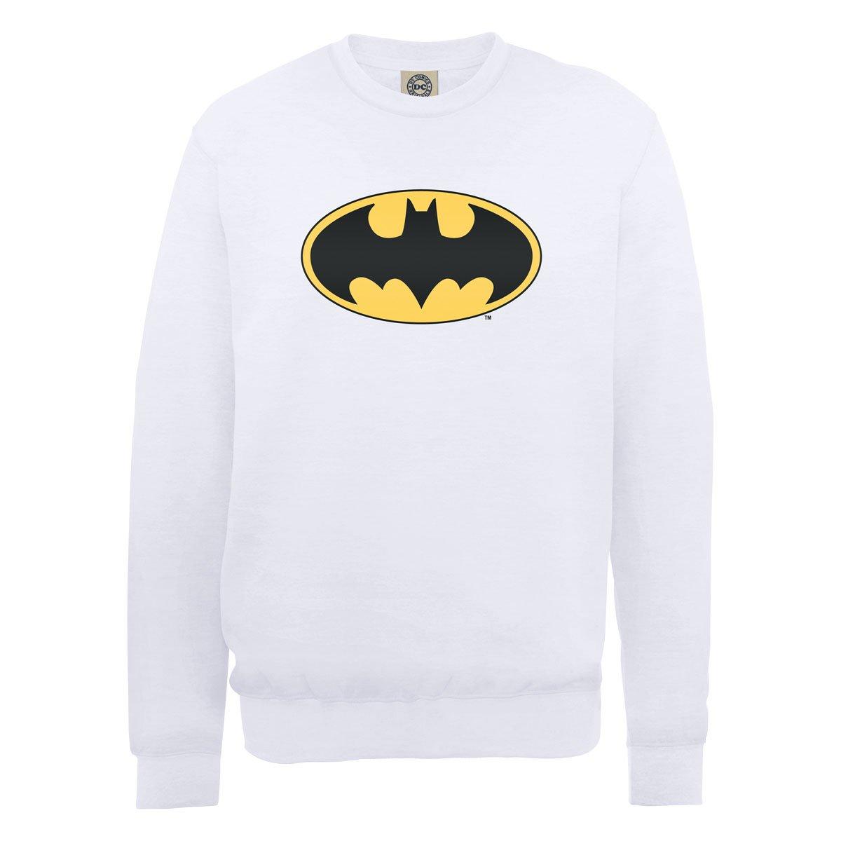Comics Blanc shirt Dc0000566 Sweat Homme Official Dc Batman Logo L wB6z6AxCq