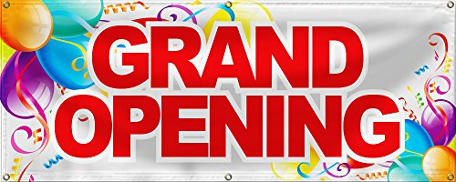 Wall26 Grand Opening Banner Sign Store Signs Flag -