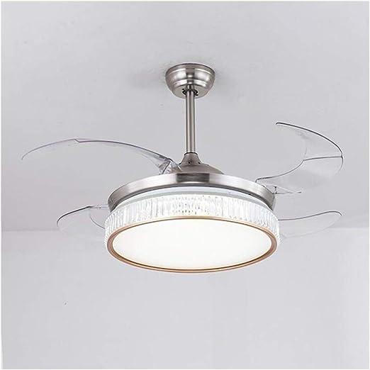 XH Llevó la luz del Ventilador de 42 Pulgadas Ventilador de Techo con luz y Control Remoto de Interior: Amazon.es: Hogar