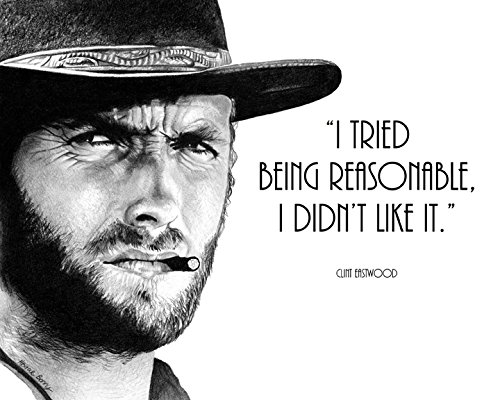 Amazon.com: Clint Eastwood, Quote, Vintage Hollywood, 8x10 ...