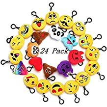 """Emoji Mini Plush Pillows for Party Decorations ,2"""" Keychain Cushion Bag Fillers BirthdayToys, Kids Party Supplies Favors. Idea Gifts for Festival"""