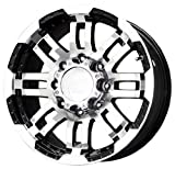 375 tires - Vision Warrior 375 Gloss Black Wheel with Machined Face (18x8