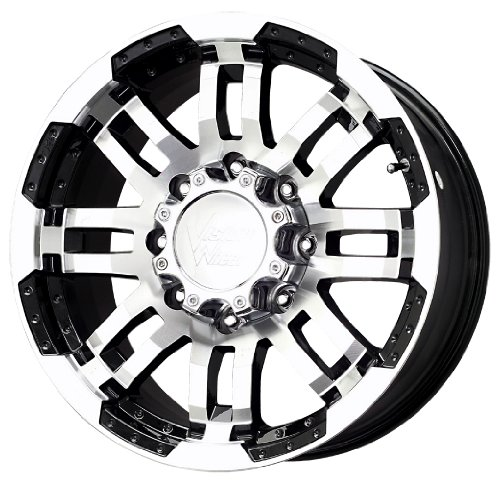(Vision Warrior 375 Gloss Black Wheel with Machined Face (18x8-1/2