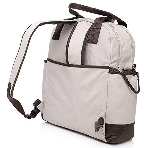 Multifuncional momia bolso cambiador bolsa para pañales bebé bolsa de gran capacidad momia mochila con asa de transporte, impermeable Mat y fijación Universal para carritos verde verde white khaki