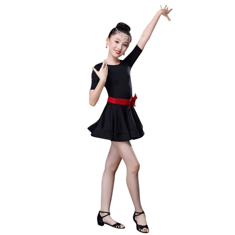 Amazon.com: Fineser 3PCS Little Girls Dancewear Sets Kids Latin Tutu ...