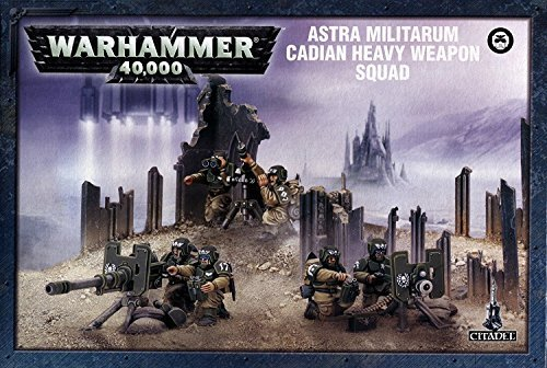 Imperial Guard Cadian Heavy Weapon Squad Warhammer 40k (Warhammer Guard 40k Imperial)