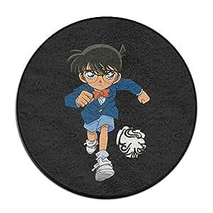 Popular Anime Character Detective Conan Circular Felpudo