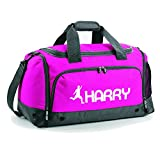 iClobber Boys Personalised Football Holdall Personalised with Your Name or club Kit Bag Bag-Pink