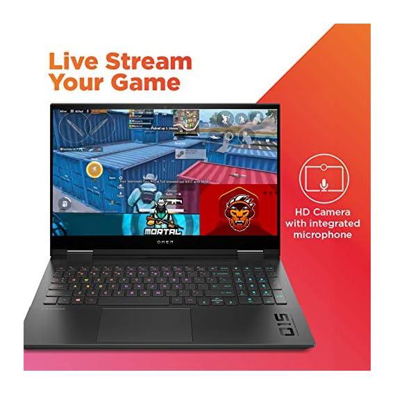 "HP OMEN 10th Gen Intel Core i7 Processor 15.6"" (39.62cms) FHD Gaming Laptop (i7-10750H/16GB/1TB SSD/Windows 10/300 Nits/144 Hz/NVIDIA GTX 1650ti 4GB/Shadow Black/2.36 kg), 15-ek0019TX"