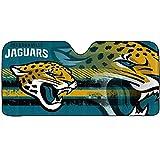 1 pc NFL Jacksonville Jaguars Blue Logo Reflective Aluminum Sun Shade Universal