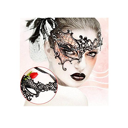 OKDEALS Sexy Lace Monocular Eye Face Mask Masquerade Ball Fancy Party Dress Cool (Face Masks Fancy Dress)