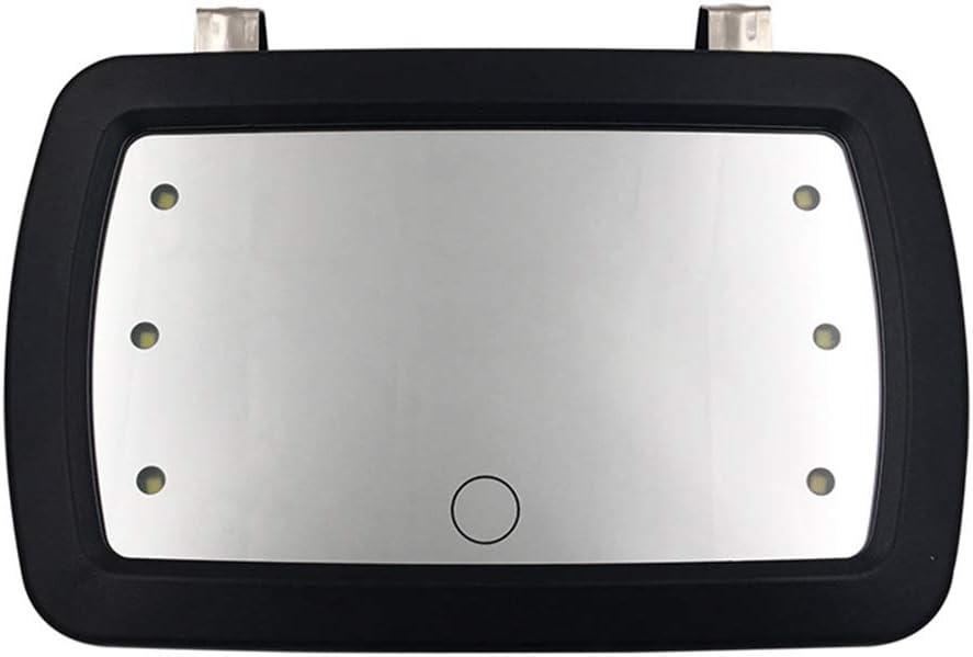 BIlinli Specchio per Parasole per Auto Specchio per Trucco per Auto in Acciaio Inossidabile