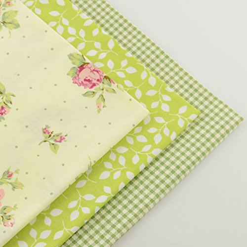 FairyTeller 3 Piece Green Fat Quarter 40Cmx50Cm 100% Cotton Fabric Patchwork Quilting Bedding Sewing Fabrics Tecido Home Textile Tissue (Aquamarine Light Paint)