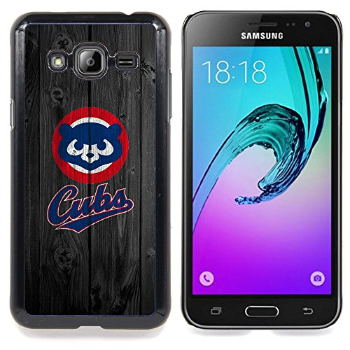 Price comparison product image For Samsung Galaxy J3 - Baseball Cub Team Case Cover Protection Design Ultra Slim Snap on Hard Plastic - God Garden