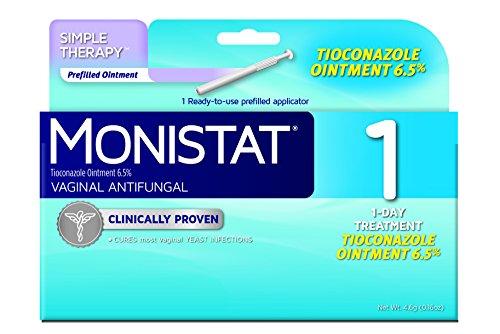 Monistat Vaginal antihongos medicación 1 - día, 0.16 onzas precargada aplicadores