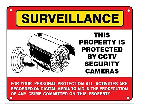 Large CCTV Surveillance Camera Warning Sign 11