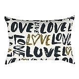 Pgojuni Rectangle Merry Christmas Pillow Case Sofa Waist Linen Blend Pillow Cover Cushion Cover Home Decor 1pc 30cmx50cm (H)
