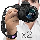 (2 Pack) Camera Hand Strap - Rapid Fire; Heavy Duty Safety Wrist Strap by Altura Photo w 2 Alternate Connections for Use w Large DSLR or Point & Shoot Cameras (2016 Update)