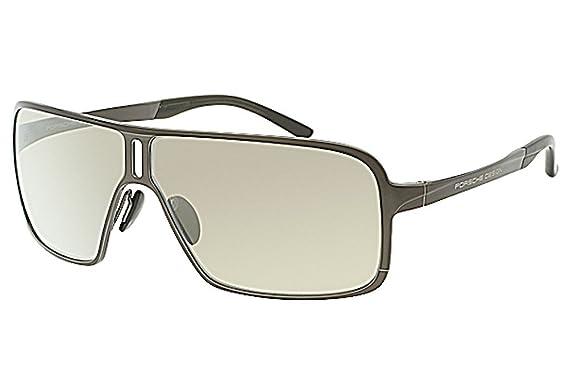 c5fc655a74 Image Unavailable. Image not available for. Color  Porsche Design Men s  P 8496 P8496 C Dark Brown Sport Sunglasses 67mm