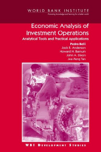 Economic Analysis Of Investment Operations  Analytical Tools And Practical Applications  Wbi Development Studies