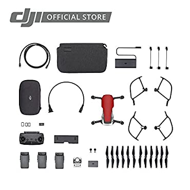 DJI Mavic Air Fly More Combo, Flame Red Portable Quadcopter Drone CP.PT.00000174.01