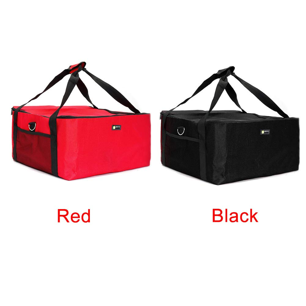 Bolsa de pizza de 16 pulgadas bolsas de entrega de alimentos aisladas extra grandes para pizza Tama/ño libre negro