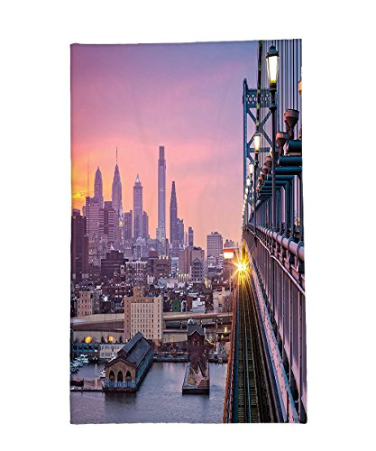 The Philadelphia Story Costumes (Interestlee Fleece Throw Blanket American Decor Philadelphia Under A Hazy Sunset TraIn On Bridge With Lights Skyscraper Landscape Purple Salmon)
