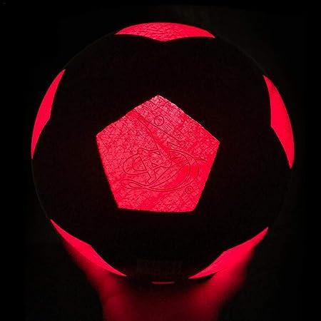 Depruies - Balón de fútbol de LED Luminoso, Impermeable, balón de ...