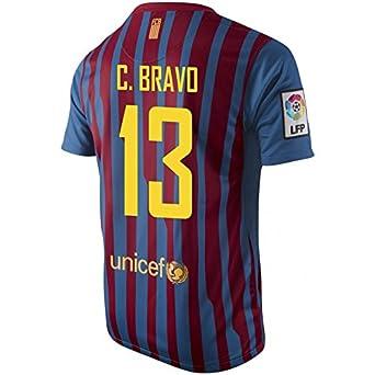 1517a637b7e C. BRAVO 13 Nike FC Barcelona Home Jersey Short Sleeve YOUTH. 2015 Copa  America Chile Claudio Bravo 1 Women Home Soccer ...