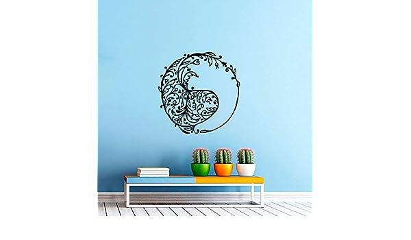 Patrón circular arte especial cabeza de pez silueta pintura de ...