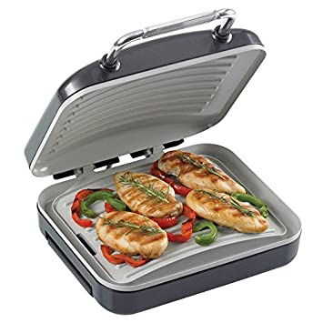 Hairy Bikers Ceramic Non Stick Health Grill &Panini Press Toaster