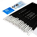 50 Pcs Pack of Synthetic Sable Fine Detail Paint Brushes Set for...