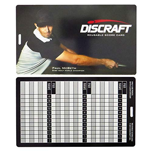 - Discraft Reusable Disc Golf Scorecard