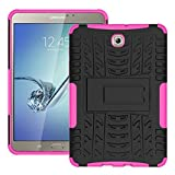 FALIANG Samsung GalaxyTab S2 T710(8 inch) Case, Dual Layer Armor Combo Shockproof Heavy Duty Shield Hard Case Cover for Samsung GalaxyTab S2 T710(8 inch) (Hot pink)